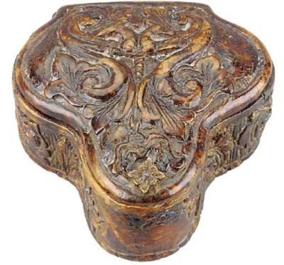 A burr birch snuff box, perhap