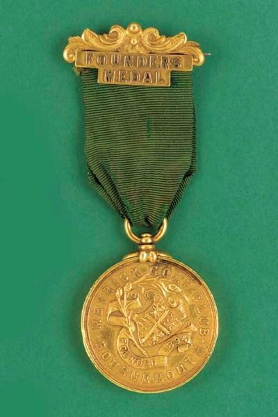 A 15CT GOLD GOLF MEDAL