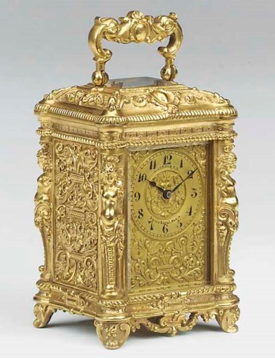 A French gilt-brass mignonnett