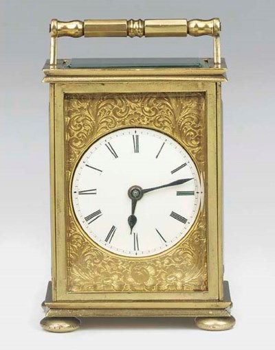 An English brass carriage time