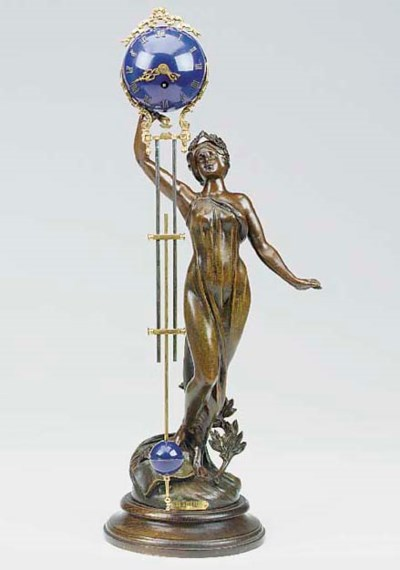 A French spelter and painted b