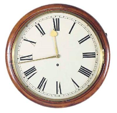 A Victorian mahogany dial time
