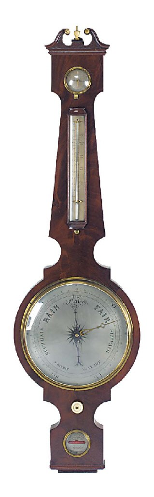 A George IV mahogany wheel bar
