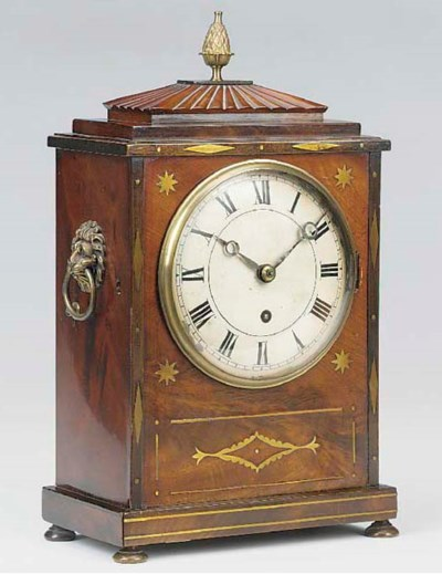 A George IV mahogany and brass