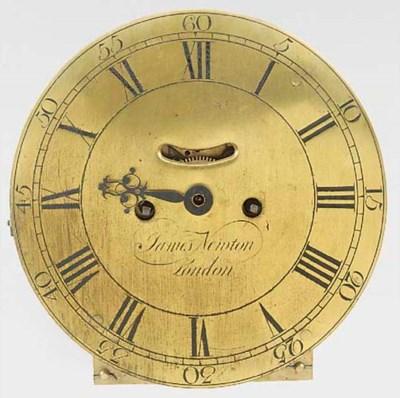 A George III brass wall clock