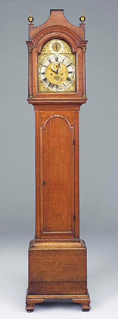 A George III oak longcase cloc