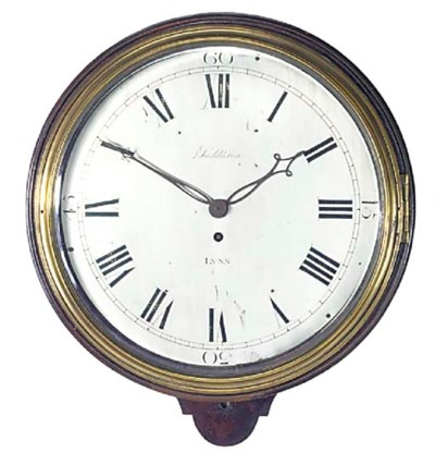 A George IV mahogany dial time