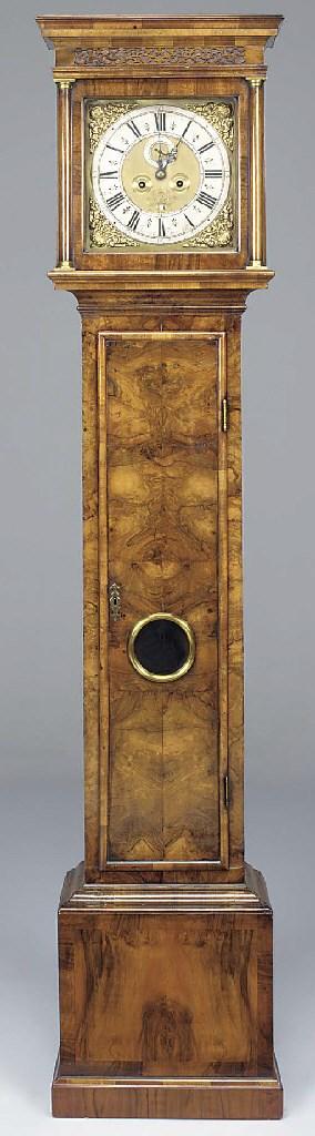 A Queen Anne walnut longcase c