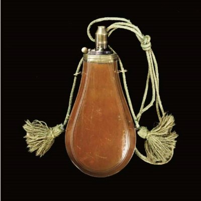 A COPPER POWDER-FLASK