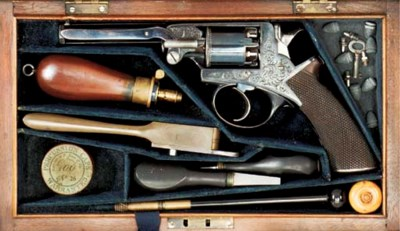 A RARE CASED 120-BORE BEAUMONT