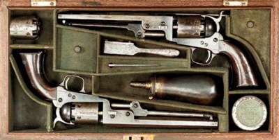 A CASED BRACE OF RARE .36 LOND