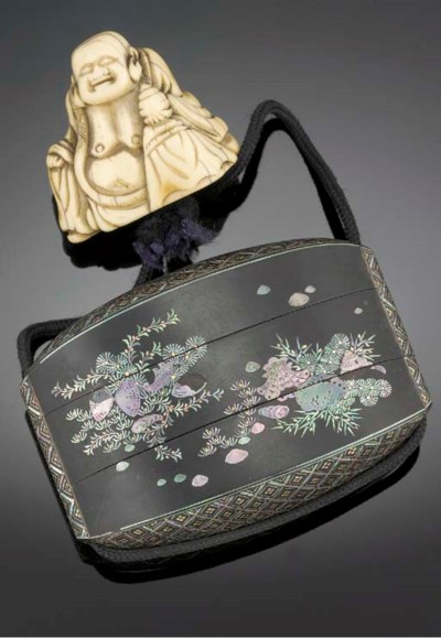 A two-case inro 19th Century