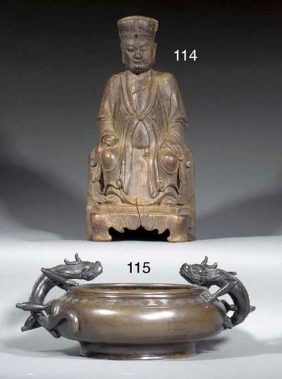 A Chinese wood carving of an o
