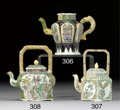 A FAMILLE VERTE BISCUIT TEAPOT