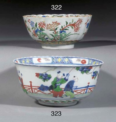 A FAMILLE VERTE BOWL 18TH CENT