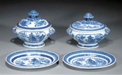 TWO CHINESE BLUE AND WHITE SMA