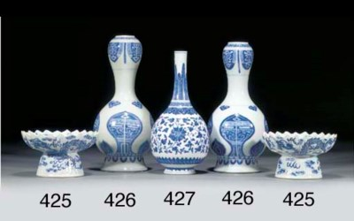 A MING STYLE BLUE AND WHITE BO