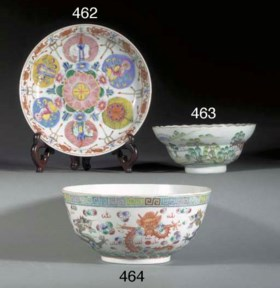 A CHINESE FOLIATE RIMMED FOOTED BOWL  DAOGUANG