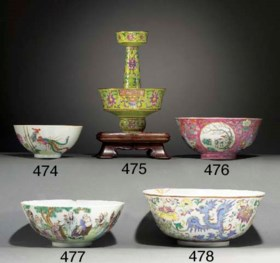 A FAMILLE ROSE ALTAR STICK SECTION  DAOGUANG