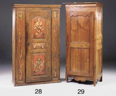 A FRENCH CHERRYWOOD ARMOIRE, P