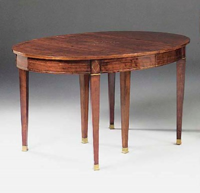 A FRENCH MAHOGANY AND BRASS ST