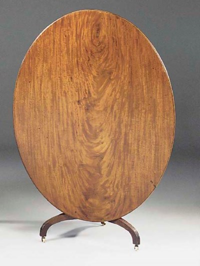 A MAHOGANY OVAL BREAKFAST TABL