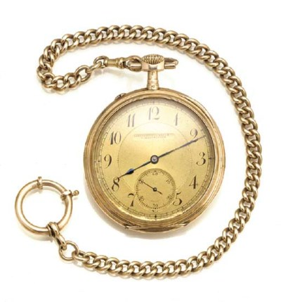 IWC, A 14ct. GOLD OPEN FACED K