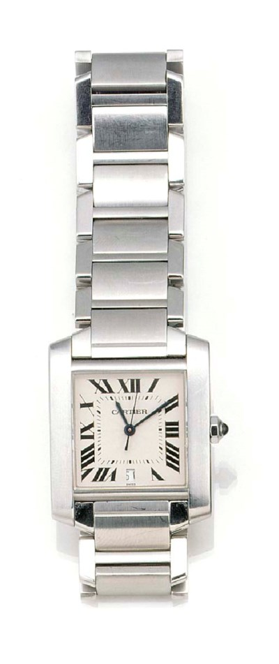 CARTIER, A STAINLESS STEEL AUT