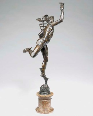 A Continental bronze figure of
