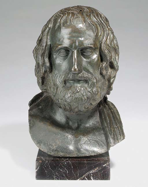 An Italian bronze bust of Soph