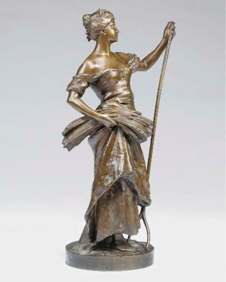 A French bronze allegorical fi
