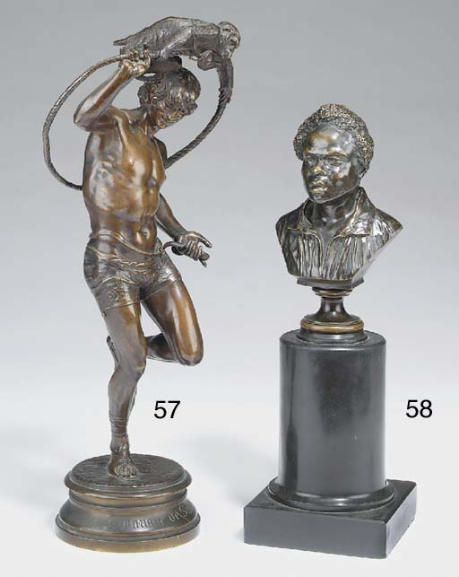 A French bronze group of a cir