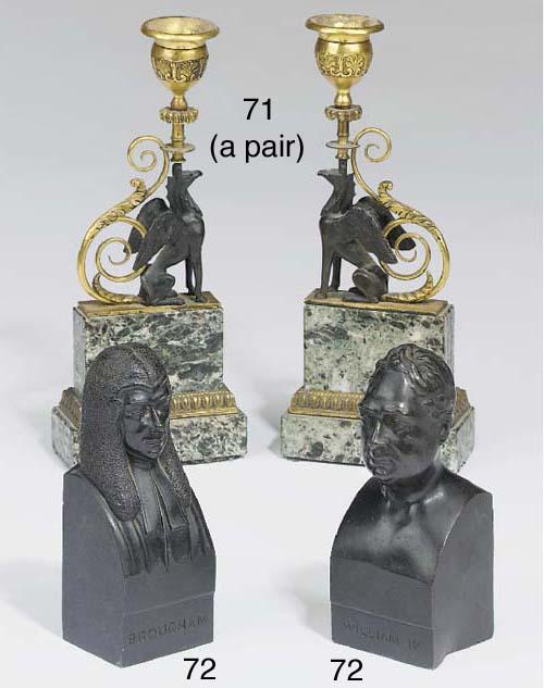 A pair of George IV ormolu bro