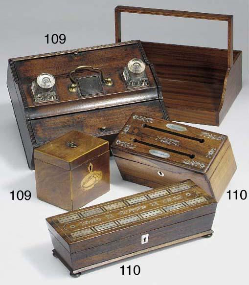 A Regency portable inkstand