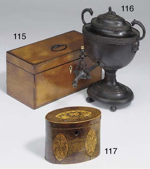 A Regency copper samovar in th