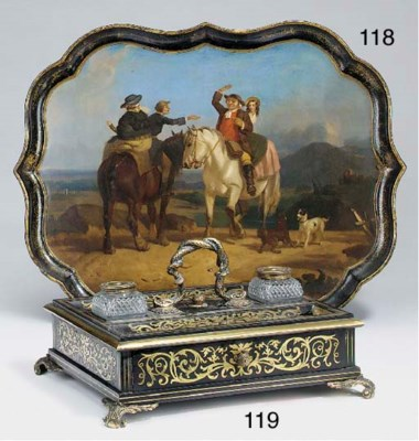 A Victorian parcel-gilt and po