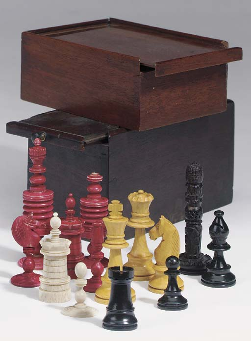A group of three English chess