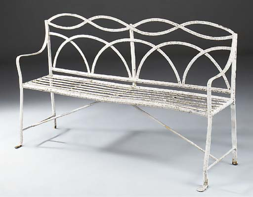 A REGENCY WHITE PAINTED CAST I