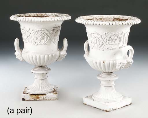 A PAIR OF VICTORIAN PAINTED CA