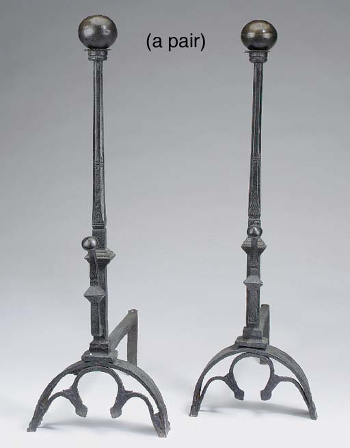A PAIR OF CONTINENTAL WROUGHT