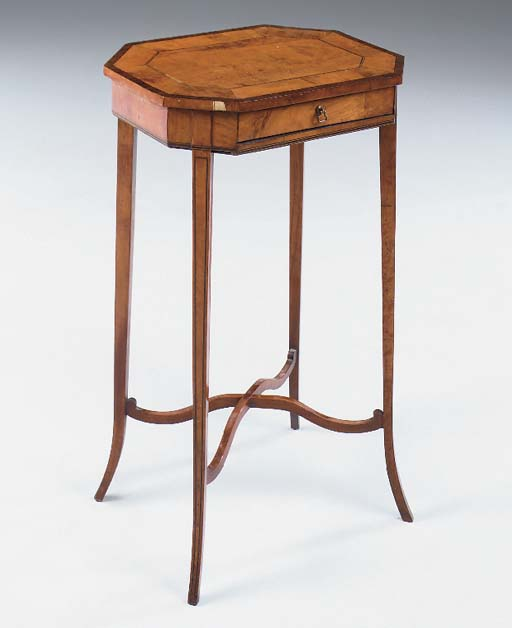 AN EDWARDIAN SATINWOOD, ROSEWO