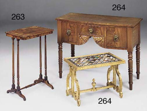 A ROSEWOOD OCCASIONAL TABLE, E