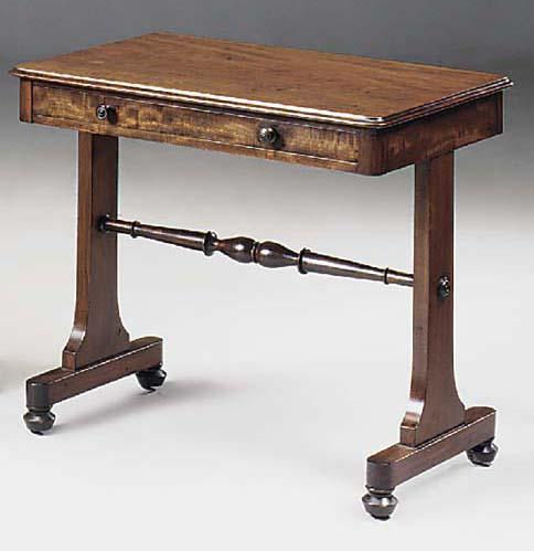 A GEORGE IV MAHOGANY SIDE TABL