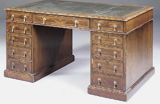 A WALNUT PARTNERS DESK, EARLY
