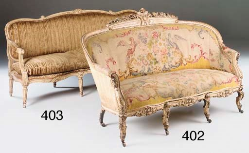 A FRENCH GILTWOOD AND LATER PA