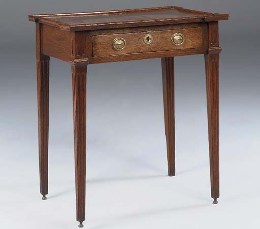 A DUTCH OAK SIDE TABLE, LATE 1