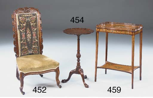 A VICTORIAN ROSEWOOD LOW CHAIR