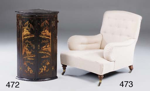 A BLACK LACQUERED AND POLYCHRO