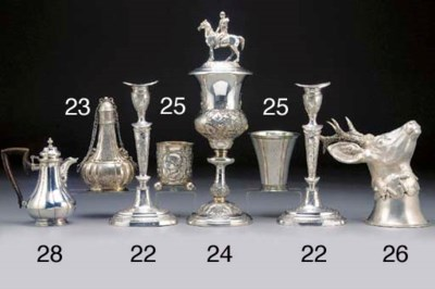 A German Silver Beaker and a S
