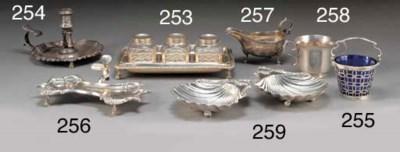 A George III Silver Three-Bott